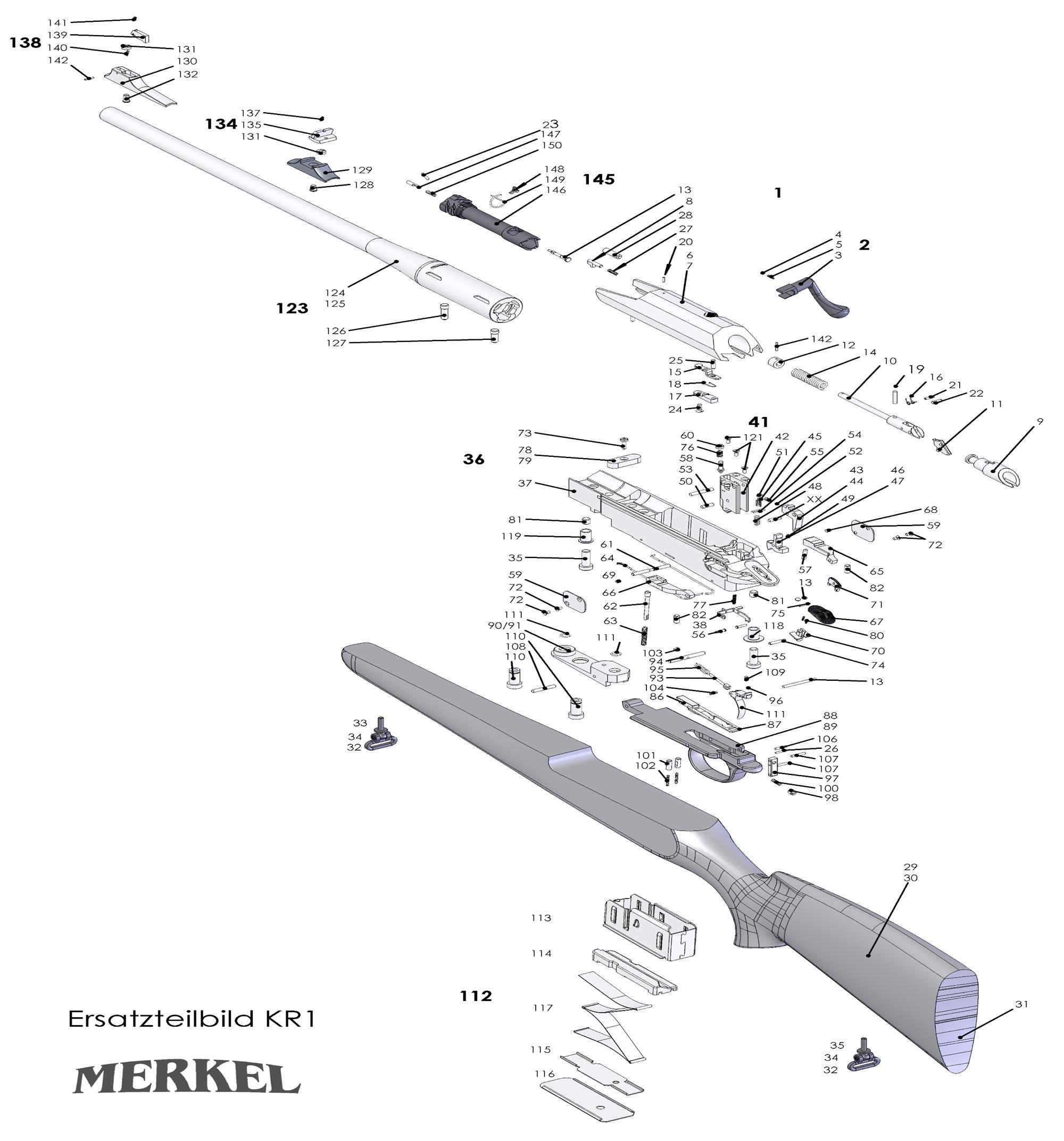 Explosionszeichnung für Merkel KR1